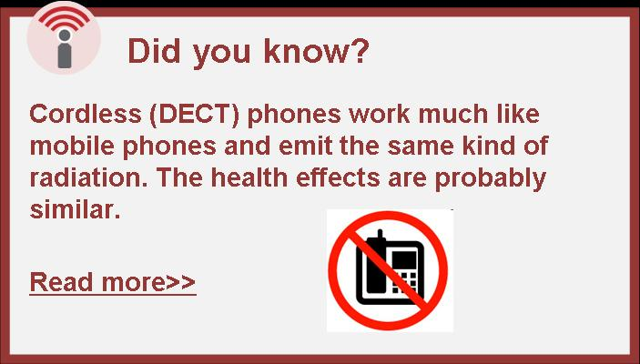 Cordless DECT phones radiation health effects